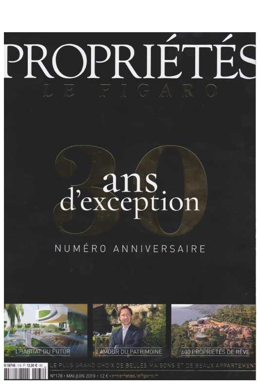 Propriété Figaro numéro anniversaire, 30 ans d'exception